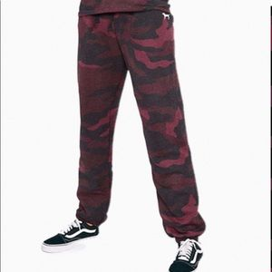 Victoria's Secret red camo joggers size xs